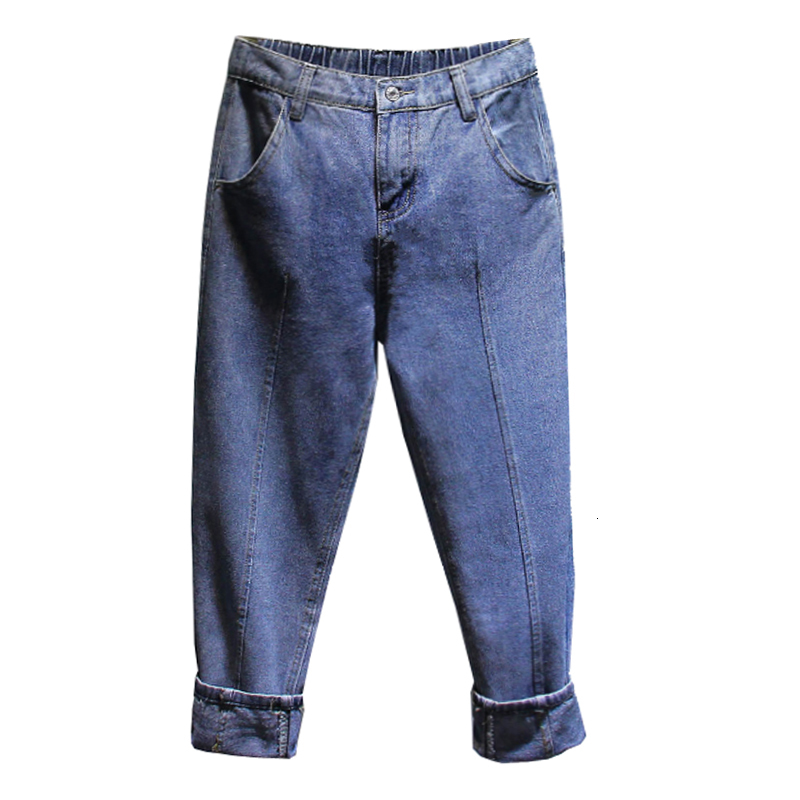 High Waist Jeans Sexy Mon Jeans Denim Harem Pants Streetwear Loose Cowboy Pants Blue Boyfriend Jeans For Women Plus Size 4XL