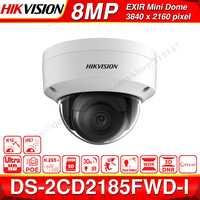 の Hikvision オリジナル IP カメラ DS-2CD2185FWD-I 8MP ネットワークドーム POE IP カメラ H.265 CCTV カメラ SD カードスロット IK10 IP67