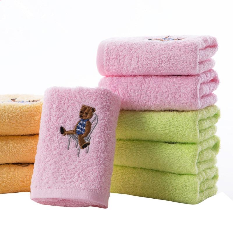 1PC Cartoon 50*26cm Bear towels Soft Microfiber Cotton Baby Infant Newborn Washcloth Bath Towel Feeding Cloth