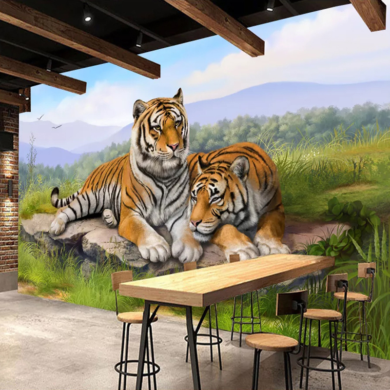 3D Tiger Poster Wall Decoration Mural Papel De Parede Custom 3D Photo Wallpaper For Living Room Bedroom Wall Papers Home Decor