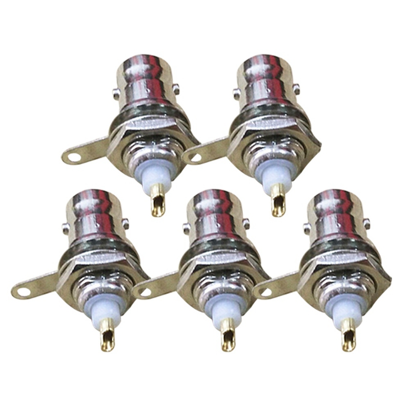 5PCS Female Connectors Chassis Panel Mount Monitor Accessories  Suit For  Communications Equipment