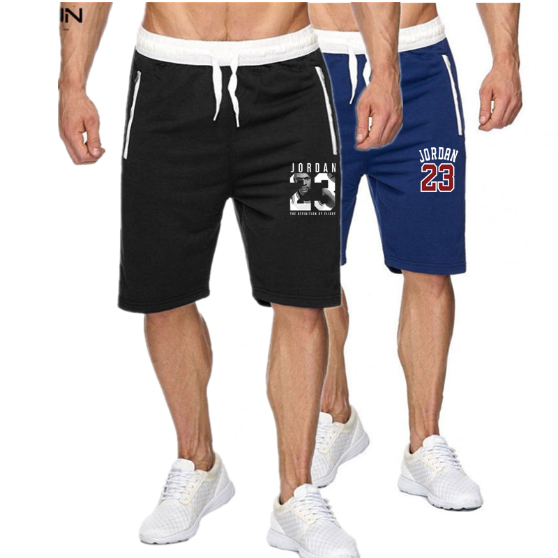 New fitness shorts jogging casual sportswear men's 23 letters printed shorts summer new fashion men's casual men's shorts