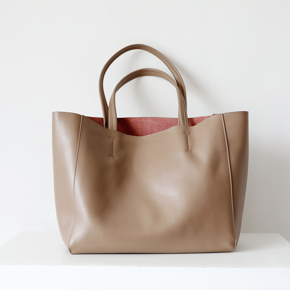 2019 New Commuter Bag Shopping Bag Leather Big Bag Leather  Bag Lykj-yx