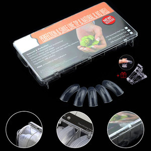 TP Full Cover Clear Dual Forms Nail System UV Gel Acrylic Nail Mold Artificial Nail Tips with Scale 12 Sizes Tips Extend Forms