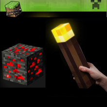 Mine crafted Figures Original Light Up Torch LED AAA Battery Night Lamp Hand Held or Wall Mount Lighting Kid Toy Gift Led