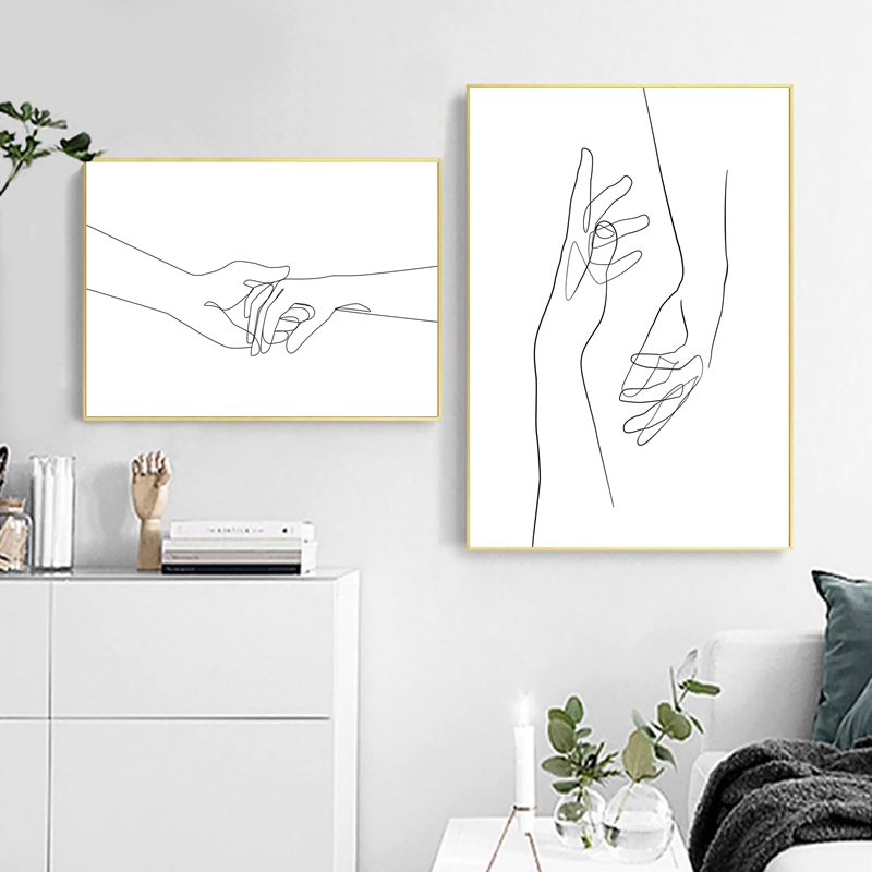 Abstract Woman Body Wall Art Canvas Posters Prints Female Naked Single Line Art Drawing Painting Black White Picture Home Decor Leather Bag