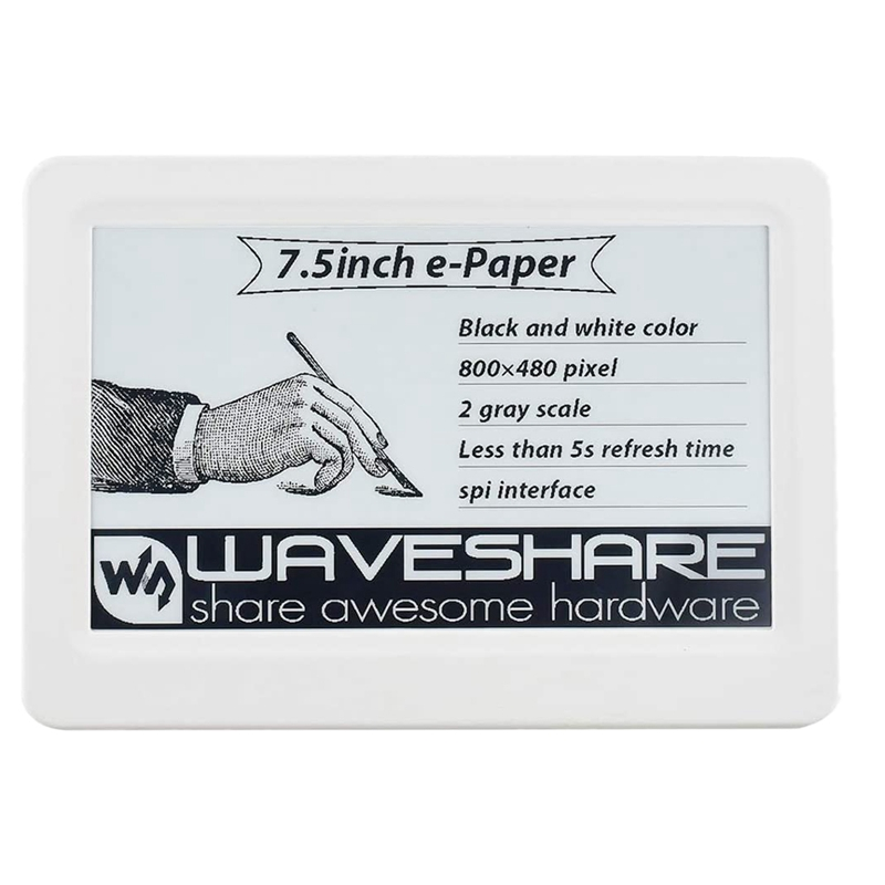 Waveshare 7.5Inch Passive NFC-Powered E-Paper, No <font><b>Battery</b></font>, Wireless Powering & Data Transfer image