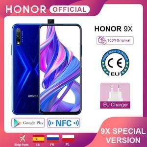 Специальная версия Honor 9X смартфон 4G128G 48MP двойная камера 6,59 ''мобильный телефон Android 9 4000mAh OTA Google Play