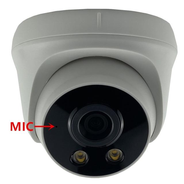 マイクオーディオ 3MP 2304*1296 すべての色自動暖かい光低照度ipドームカメラソニーIMX307 + 3516EV200 h.265 onvif