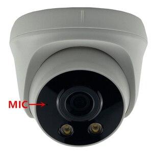 Image 1 - MIC Audio 3MP 2304*1296 All Color Automatic Warm Light  Low illumination IP Dome Camera Sony IMX307+3516EV200 H.265 Onvif