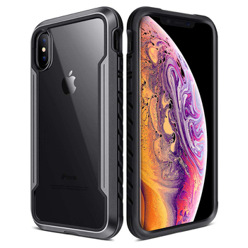 for iPhone Xs Max XR Case Defense Shield Series Military Grade Drop Tested, Anodized Aluminum TPU Polycarbonate Protective Case