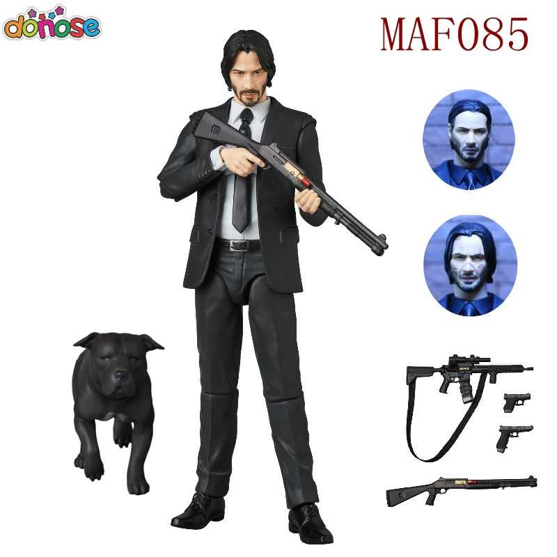NOVO Filme de John Wick Keanu Reeves Mafex 070/085 John Wick Action Figure Model Collection Toy Kids Boneca