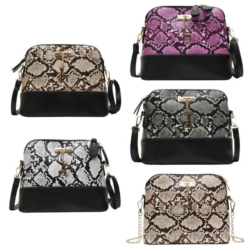 Fashion Classic Serpentine Crossbody Bags for Women 2019 Shoulder Bag Fashion Money Pouch Dames Tassen Snake Skin Ladies Bolsa
