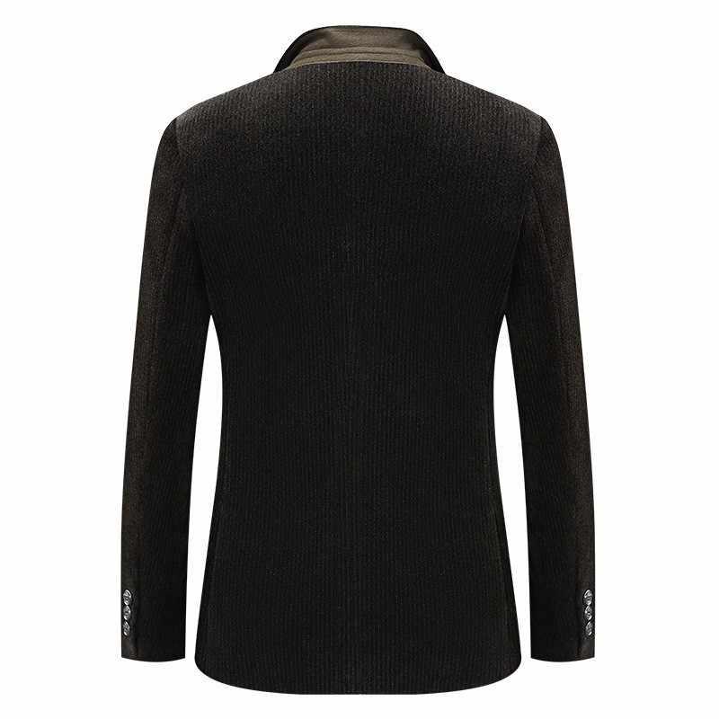 Herren Kleidung Cord Formal Business Anzug Männer Casual Einreiher Blazer Mantel Mann Frühling Herbst Schlanke Männliche Anzüge Größe 3XL