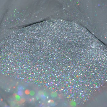 50gx1bag Nail Glitter Holographic Powder 0.2MM(1/128)008inch Powder Holo Silver Fine Dust For Nail Tip Art Hexagon-Shape Powder 10g 008inch holographic nail art glitter dust powder ultra fine holo nail glitter powder for nail art decoration