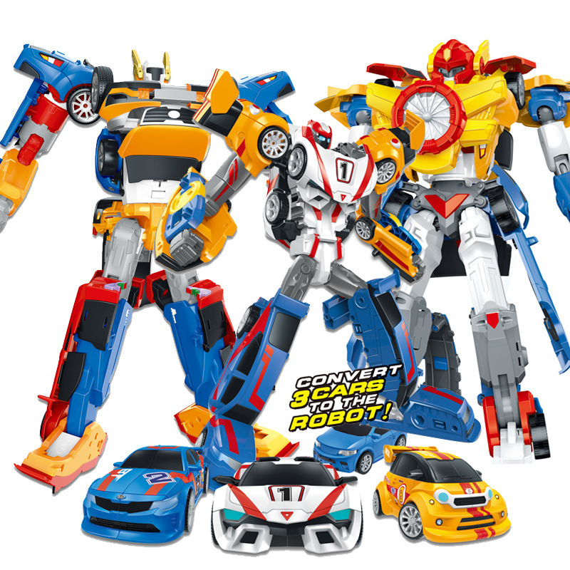 Cartoon Transformation Tobot Robot Toys Korea Cartoon Deformation Brothers Hello Anime Carbot Car Toys For Kids Juguetes