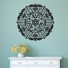 WJWY Flowers Mandalas Wall Stickers Pattern Design Removable Vinyl Wall Decals Sticker Indian Style Art Mural Home Decor(China)