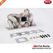 MERTOP гонки 3 мм толстый график 40 турбо коллектор для 1999-2004 A4 1.8L FWD турбо коллектор