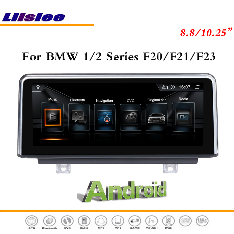 Liislee Car <font><b>Android</b></font> Multimedia For <font><b>BMW</b></font> 1 / 2 Series <font><b>F20</b></font> / F21 / F23 Cabrio Radio BT CD DVD Player GPS Navi Map Navigation System image
