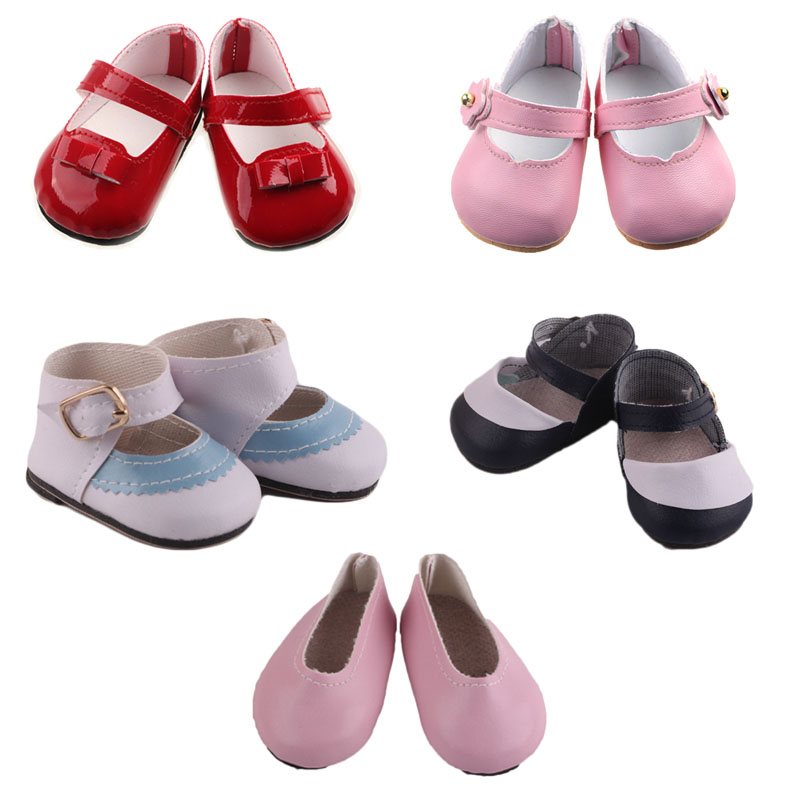 Doll 14 Styles Fashion Leather Shoes 18 Inch American&43Cm Born Baby,Generation,Russian DIY Toy Birthday Girl's Gift