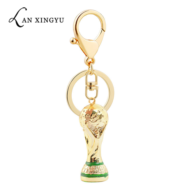 World Cup Cup Trophy Key Chain Hanging Decoration Alloy Handicraft Pendant Football Award Display
