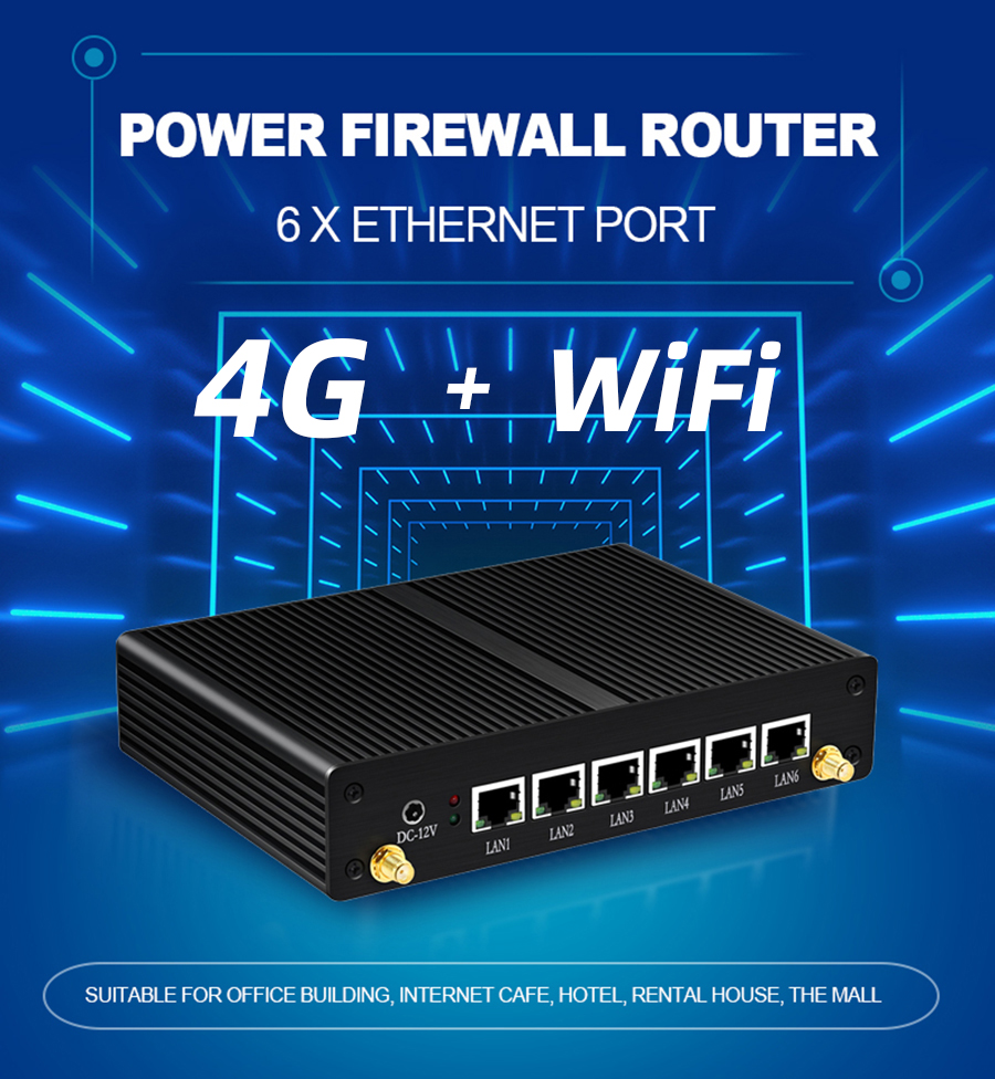 Image 5 - XCY X34 Firewall Appliance Intel Core i3 5010U AES NI 6*Gigabit Ethernet 3G 4G LTE SIM WiFi Pfsense Router Mini PC BareboneMini PC   -