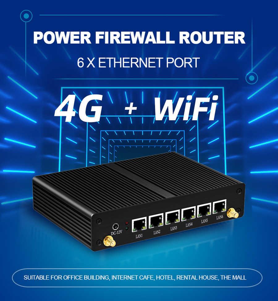 XCY جهاز كمبيوتر مصغر جدار الحماية إنتل كور i3 5010U 6x جيجابت إيثرنت i211 نيك 3G 4G LTE واي فاي Pfsense AES-NI موجه VPN Openwrt