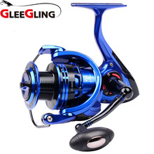 GLEEGLING GFR05 Carp Fishing Reel 5000-6000 Spinning Reel Pesca Right/Left Handle Carp Boat Casting Fishing Wheel 5.2:1 Gear seaknight rapid 3000h 4000h 5000 6000 anti corrosion saltwater fishing reel 11bb 6 2 1 4 7 1 8 15kg carp fishing spinning wheel