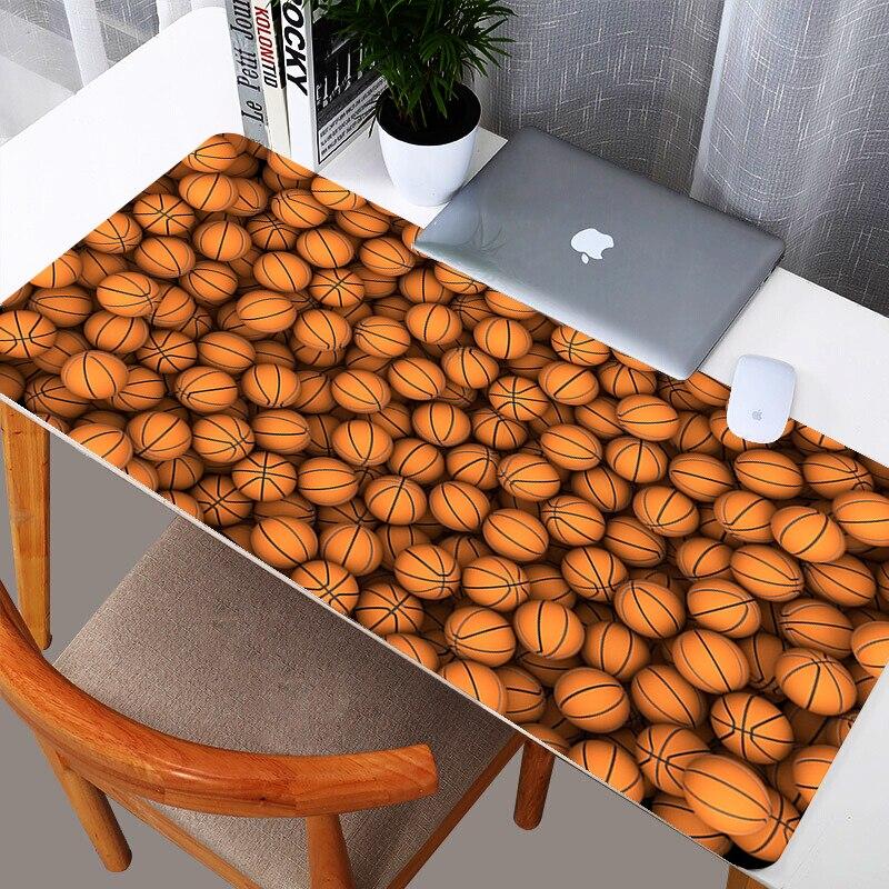 Баскетбол художественный дизайн по индивидуальному заказу большой расширенной Мышь игровой коврик коврики Мышь pad клавиатура Настольный коврик Размеры 300mmX800mm-2