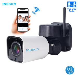 Image 1 - Inesun açık WiFi IP güvenlik kamera 1080P IP kamera WiFi 4X Zoom PTZ kamera 120ft IR gece görüş iki yönlü ses 128G SD kart