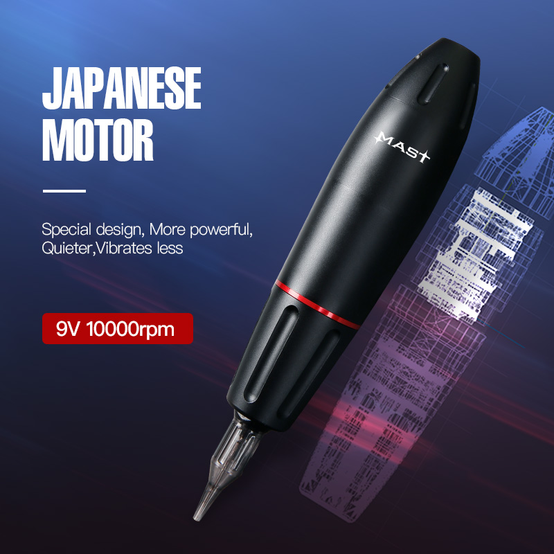 Newest Rotary Tattoo Gun Strong Motor Supply High Quality Cartridges Tatttoo Pen Supplies For Permanent Make Up
