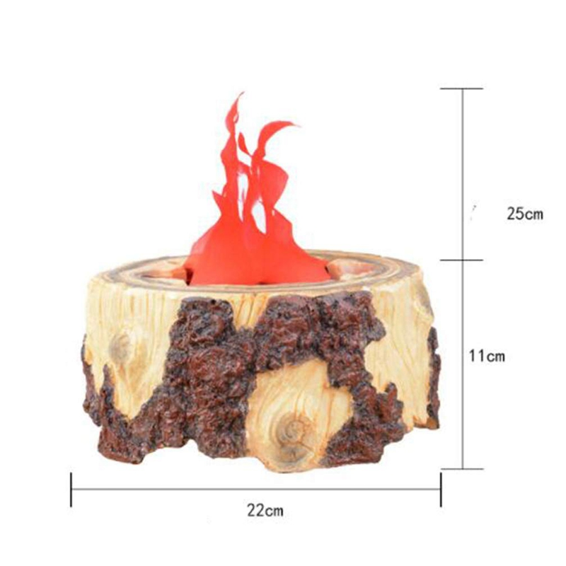 LED Resin Flame Lamp Artificial Fake Fire Lamp Halloween Christmas Party Decoration Lamps US Plug - 2