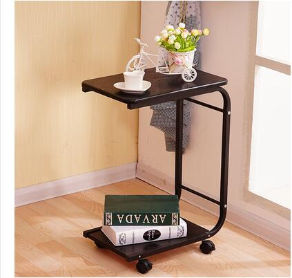 Table of edge of edge of mobile tea table sofa belt wheel square table simple and easy Angle a few small tea table contracted|Coffee Tables| |  - title=