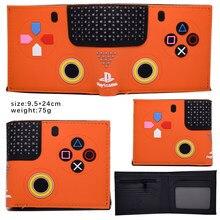 Doces cores jogos playstation dobrado bolsa com bolso de moeda presente criativo impressão 3d pvc curto carteira