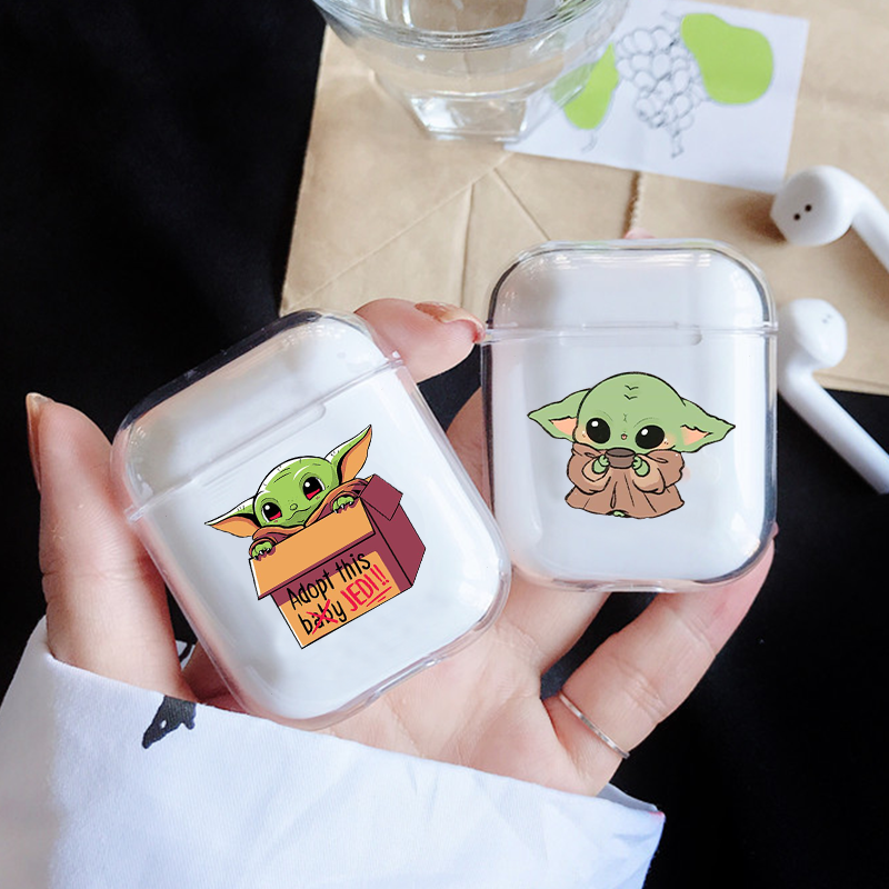 Baby Yoda Clear Bluetooth Wireless Earphone Case For Airpods Pro