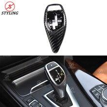 цена на F20 F32 F10 Gear shift knob Cover For BMW F30 F33 F36 F15 F25 F26 F01 Carbon Base Cover&car Steering Wheel interior trim 2009+