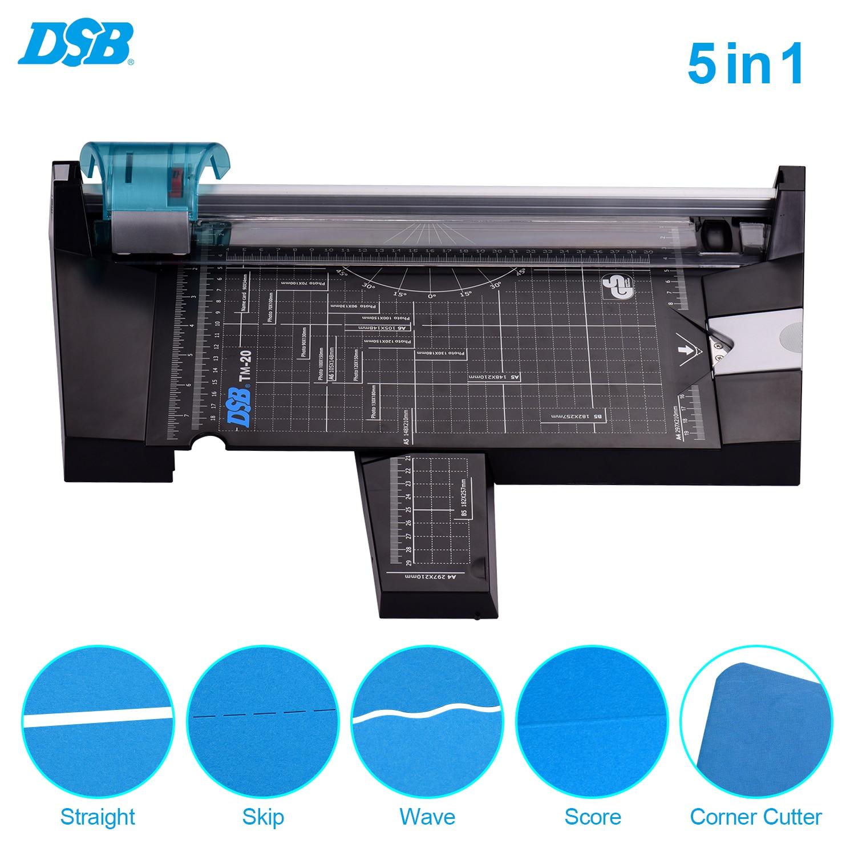 DSB 5 в 1 Многофункциональный триммер для бумаги A4, резак для фотографий, прямой, волнистый, угловой резак с длиной резки 12 дюймов