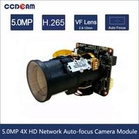 5MP 4XAuto focus IP Camera Module Hisilicon 3516EV300 IMX335 IPC Module for PTZ camera use