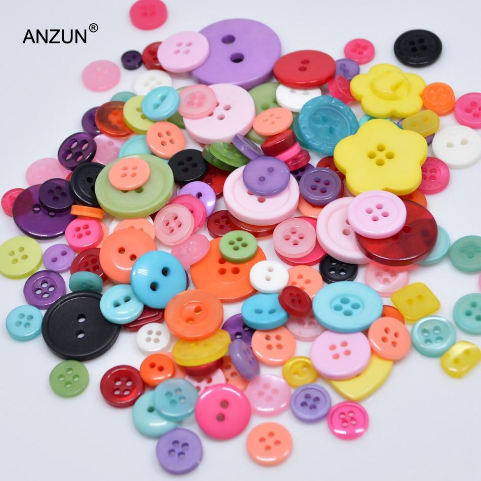 50g Arte y Artesanías Coser Botones Scrapbooking Tarjeta Mixta Y Varios Colores