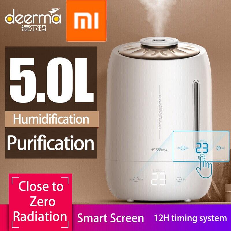 Xiaomi Deerma 加湿器 5L 大型ミュート超音波容量殺菌加湿空気アロマディフューザー清浄機ミストメーカー