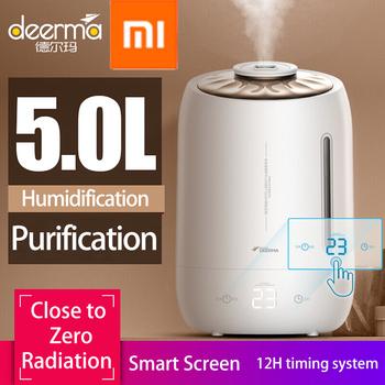 Xiaomi Deerma nawilżacze 5L duże wyciszenie pojemność ultradźwiękowa sterylizacja nawilżacz powietrza rozpylacz zapachów oczyszczacz powietrza z mgiełką tanie i dobre opinie DEM-F600 4 1-6l 36db 25 w Mgła absolutorium 220 v Aromaterapia Ac Źródło Gospodarstw domowych Klasyczne kolumnowy