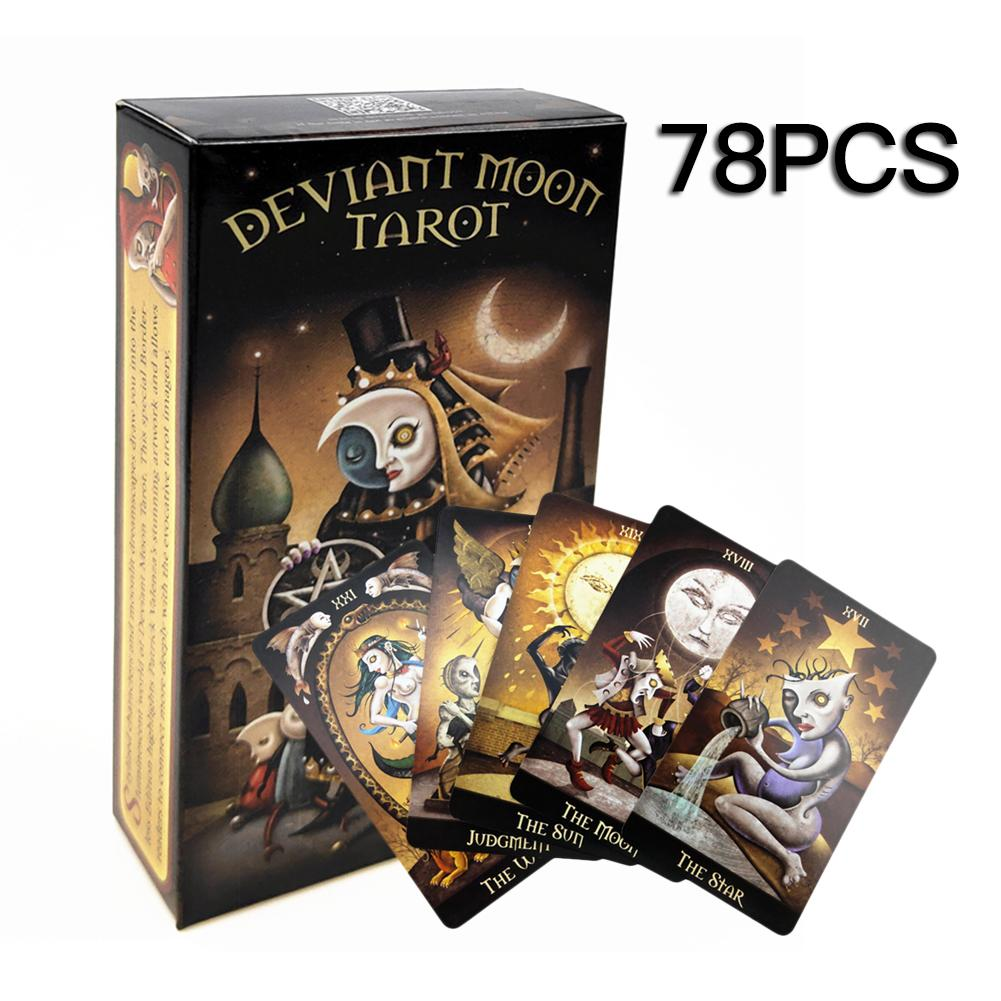 78PCS English Board Game Deviant Moon Tarot Card English Version Card Family Friends Party Table Deck Game