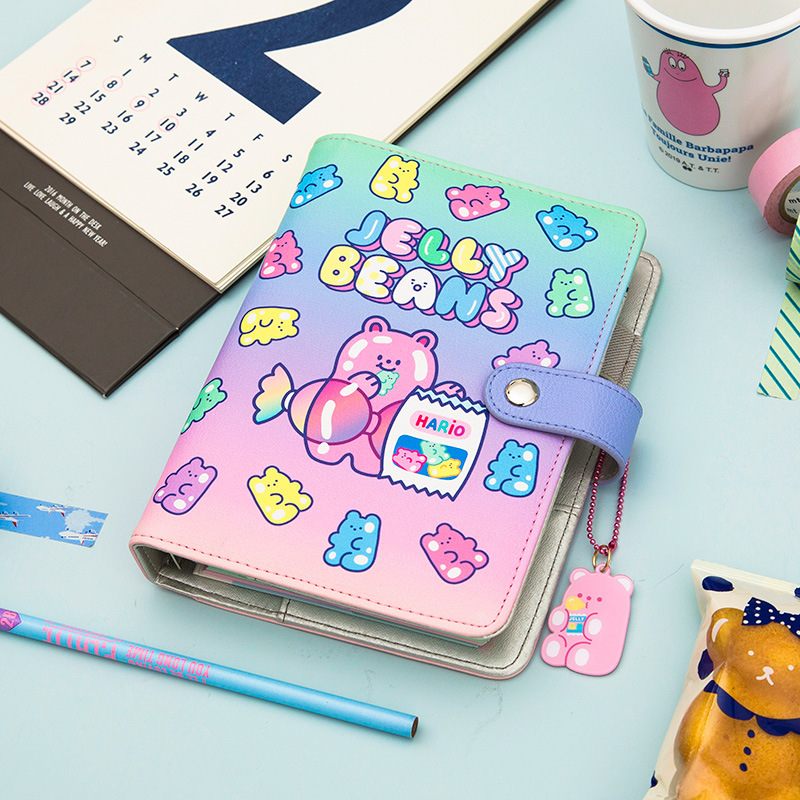 A6 Spiral Notebook 2021 DIY Planner Organizer Dividers Agenda Weekly Personal Travel Diary Journal Transparent Rainbow Note Book