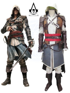 (QYY-034) Hallween Assassin's Creed 4 черный флаг Эдварда кэнвей Пиратская униформа косплей костюм