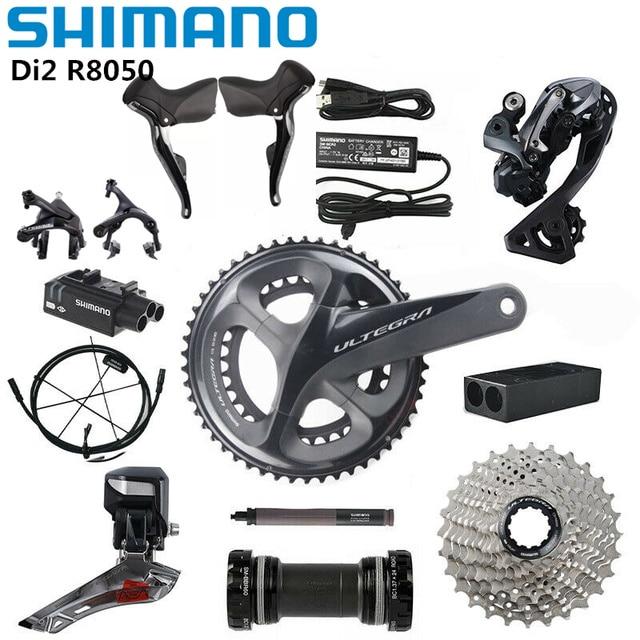 Shimano Di2 Ultegra R8050 R9070 50/34T 53/59T 165/170/172/175mm 2*11 velocità bici da strada aggiornamento gruppo bici R8000