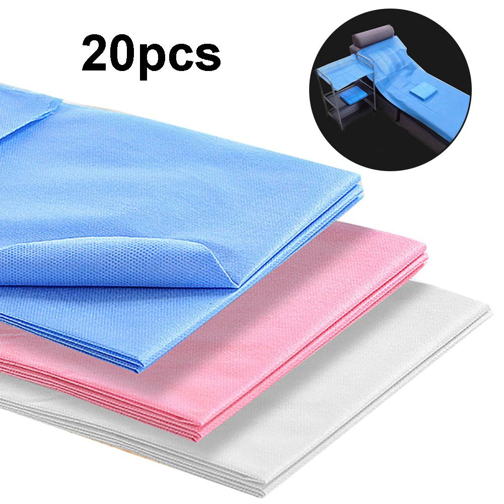 20Pcs Disposable Breathable SMS Non-Woven Me-di-cal SPA Massage Sheets Bed Cover Made Of  Fabric, Tensile Resistant And Durable.