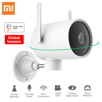 Глобальная версия наружной камеры Xiaomi N1 Smart PTZ WIFI веб-камера 1080P 270 Угловые ip-камеры двойная антенна сигнала Mi Home Security