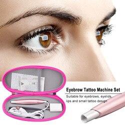 Professional eyebrow tattoo microblading pen Semi-permanent Tattoo Machine Device Lip Makeup Eyebrow Lip Rotary Tattoo gun