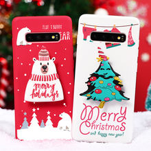 Merry Christmas For Samsung Galaxy A01 A10 A11 A20 A30 A10S A20E A20S A81 A91 A51 A6 A7 A8 A9 2018 J4 J6 Plus Stand Holder Case(China)