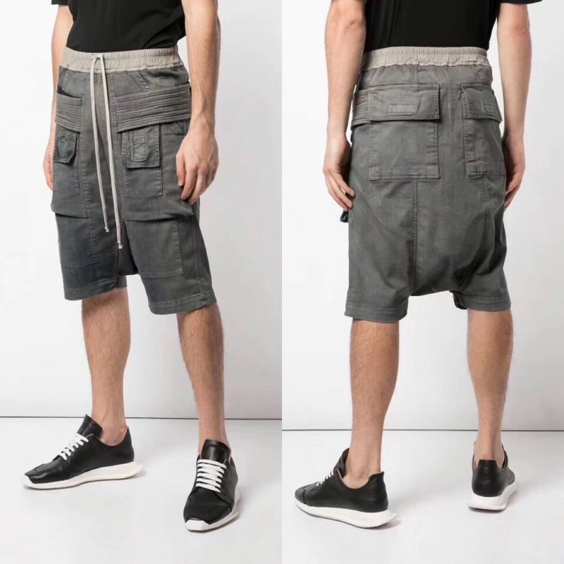 High Quality Fashion Mens Drop Crotch Harem Pants Drawstring Pockets Hip Hop Loose Shorts Man Casual Knee Length Baggy Shorts